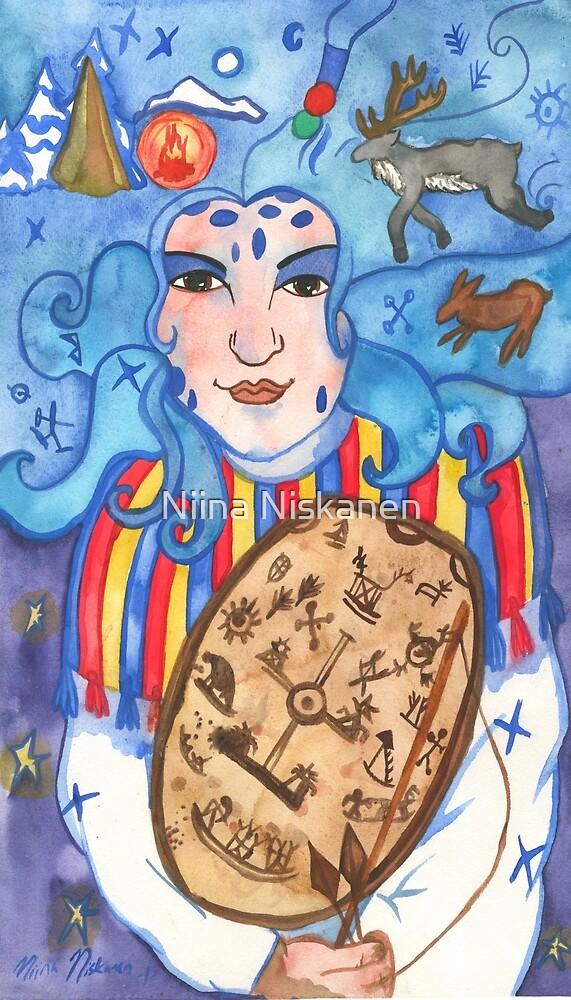 Juksakka Saami Goddess Of Hunt  by Niina  Niskanen