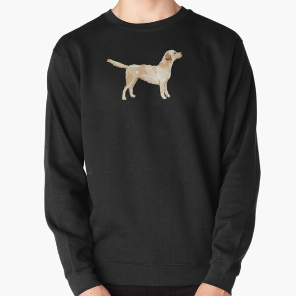 Yellow Lab Silhouette Watercolor Pullover Sweatshirt