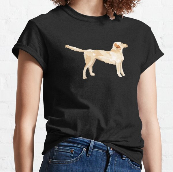 Yellow Lab Silhouette Watercolor Classic T-Shirt