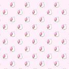 «Patrón de gato gordito amante de helado» de EuGeniaArt