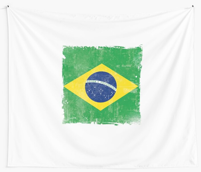 Brazilian Brazil National Flag Symbol Of Pride Wall Tapestries By
