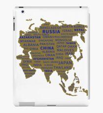 Asia, continent. gift idea iPad Case/Skin