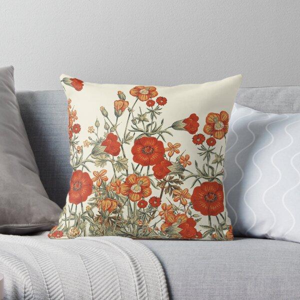 Vintage Garden 7 Throw Pillow