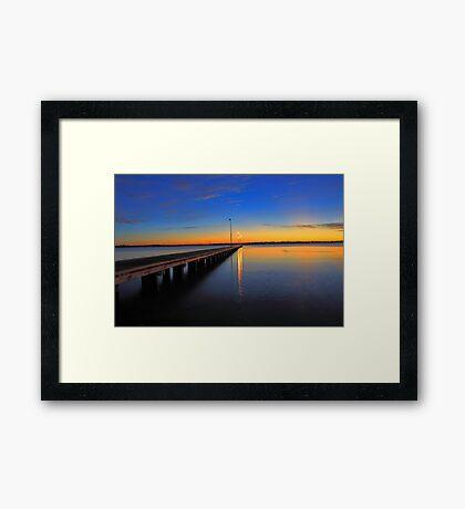 Como Jetty Sunset  Framed Print