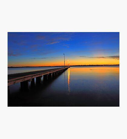 Como Jetty Sunset  Photographic Print