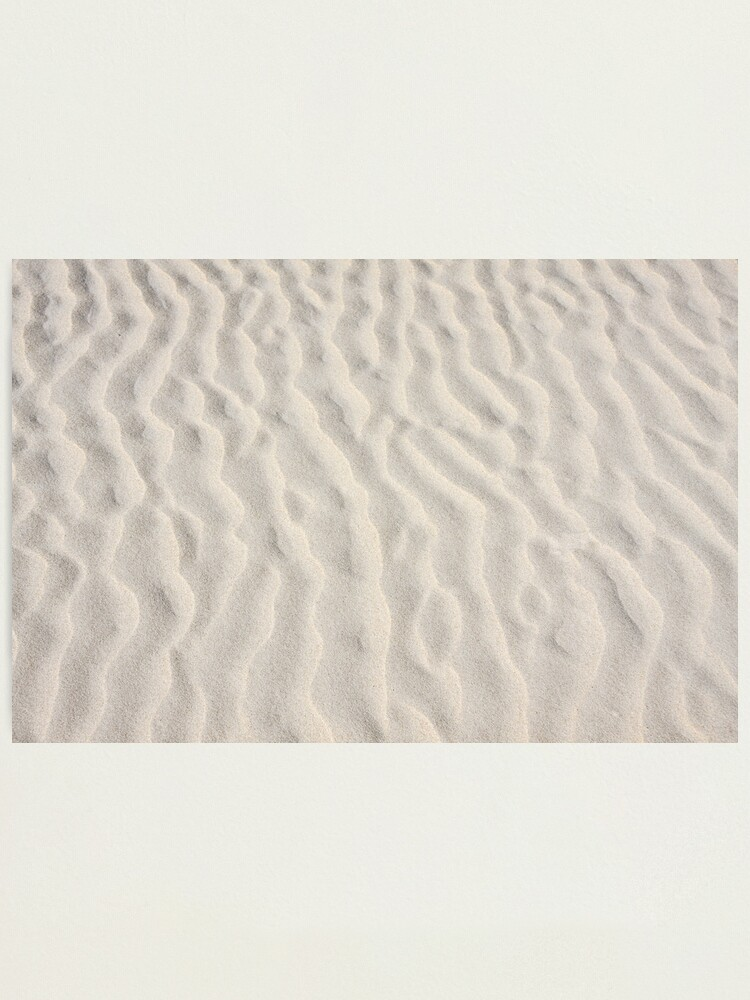 Alternate view of Ripples in the sand Photographic Print