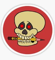 Yorick's Skull Sticker