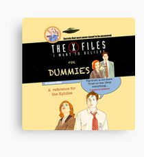 The X Files for dummies by Mimie Canvas Print
