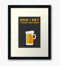 How I Met Your Mother Minimalist Poster - Beer by Popate Framed Print