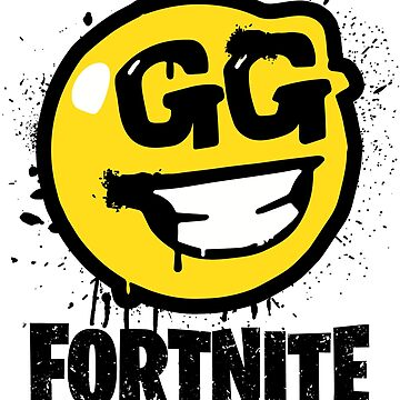 Fortnite Battle Royale GG Good Game Graffiti Spray Smiley Face Shirt by trndsttrz