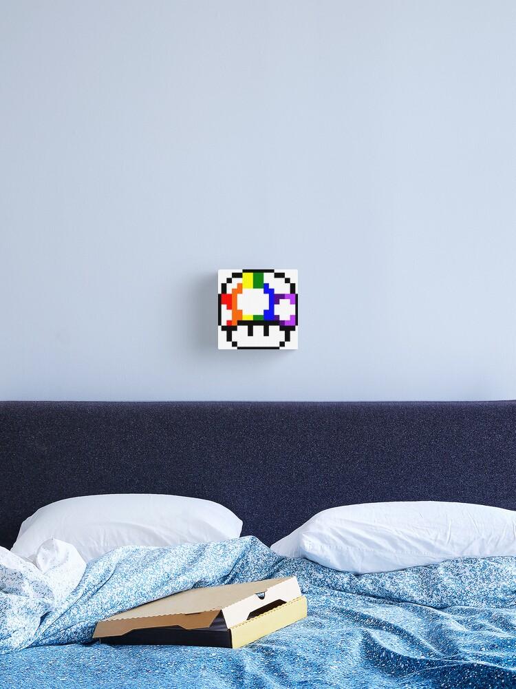 Mushroom Rainbow Pixel Art Canvas Print