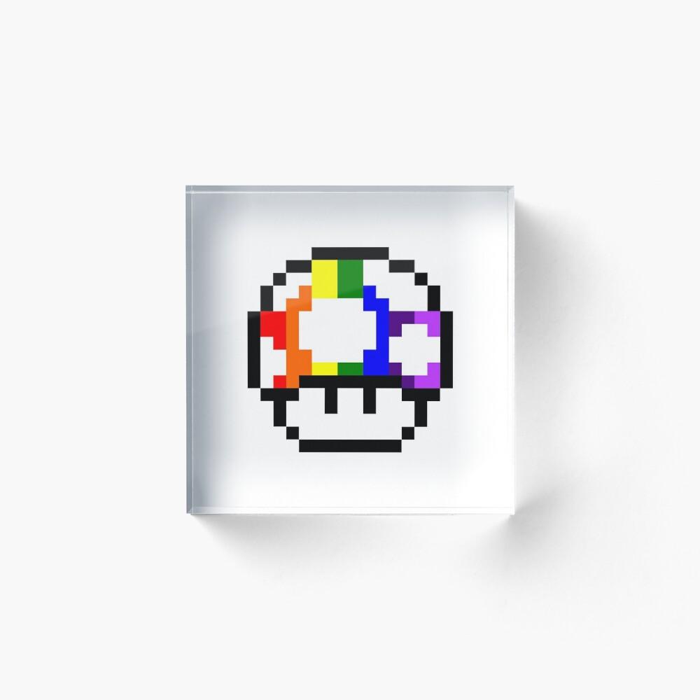 Mushroom Rainbow Pixel Art Art Board Print By Crampsy Redbubble