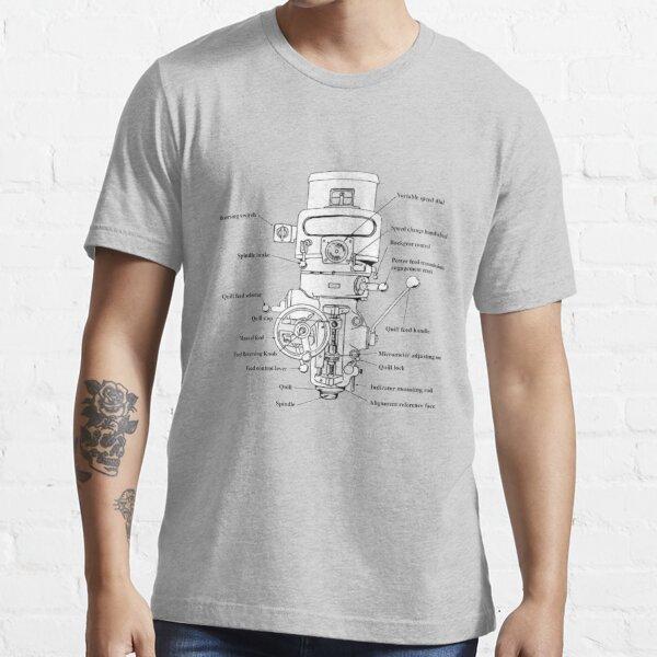 Milling Machines Diagram Essential T-Shirt