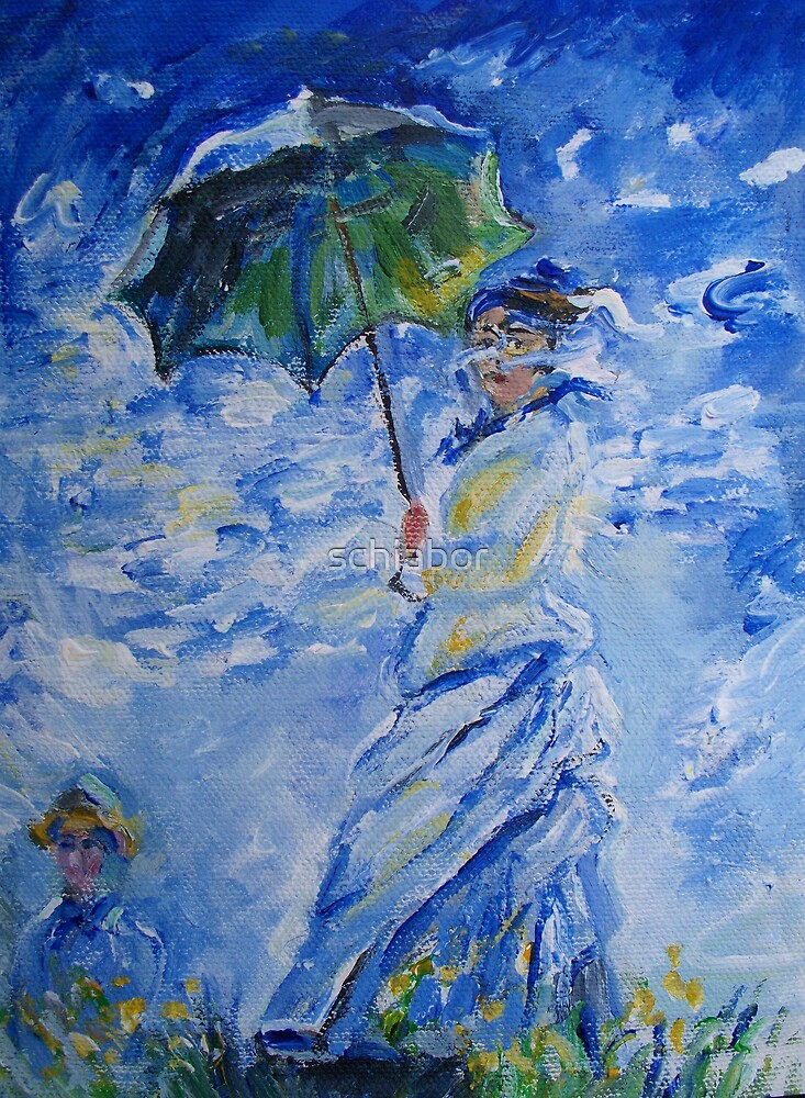 Woman With Parasol painting by schiabor