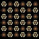 Recycle Flower Pattern (on black) by catherine barnhoorn