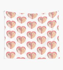 Piggy Love  Wall Tapestry