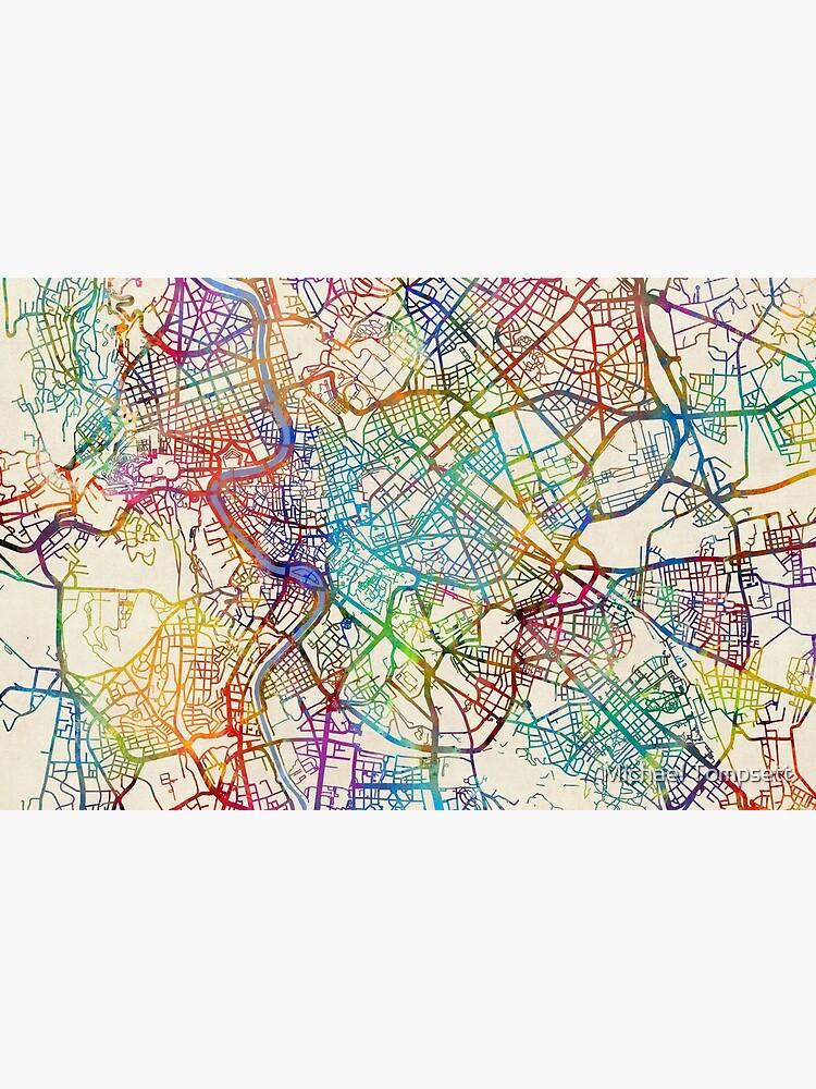 Rom Italien Straßenkarte von ArtPrints