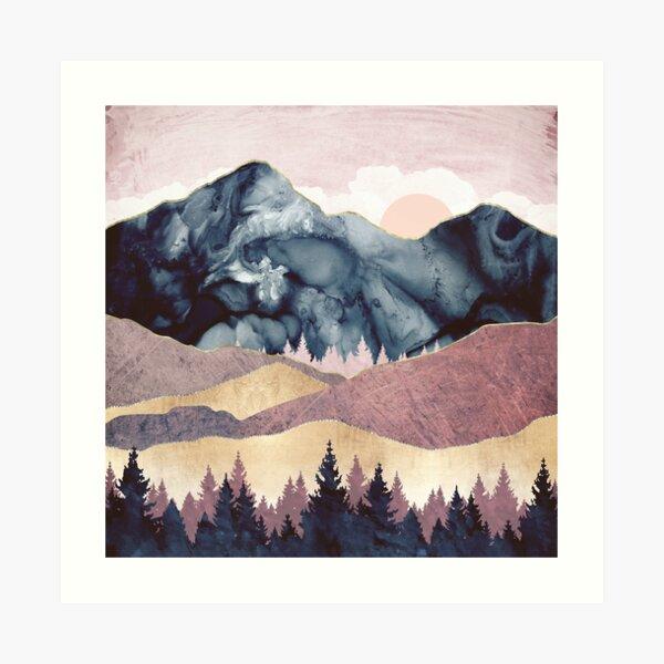 Mauve Vista Art Print
