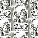 Skull series 1 - v by mwesselcreative