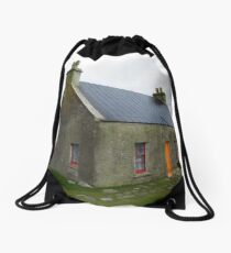 The White House, Arnol, Isle of Lewis Drawstring Bag