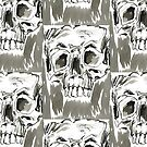 Skull series 1 - x by mwesselcreative
