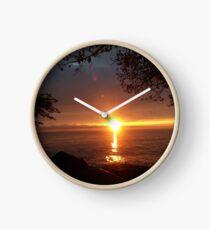 Early Morning Lake Sunrise Clock