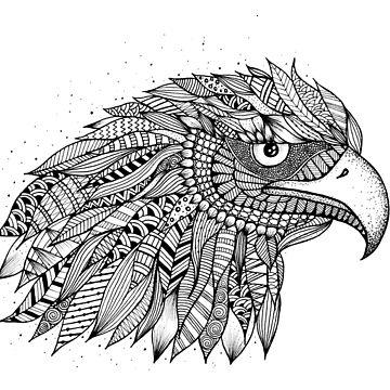 Eagle Zentangle Artwork by ivysanchez