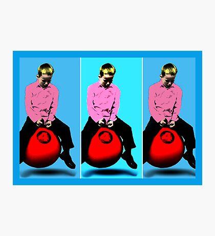 Space Hopper Pop Art Photographic Print