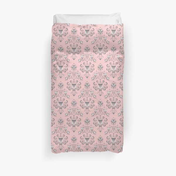 Millennial Pink Haunted Mansion Duvet Cover