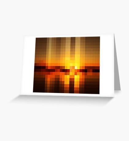 Nature Pixels No 19  Greeting Card