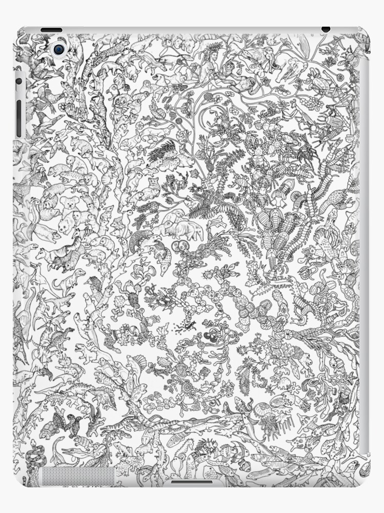 Tree Of Life Animal Evolution Black And White Ipad Case Skin By Evolutionposter