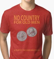 No Country For Old Men Minimalist Design Tri-blend T-Shirt