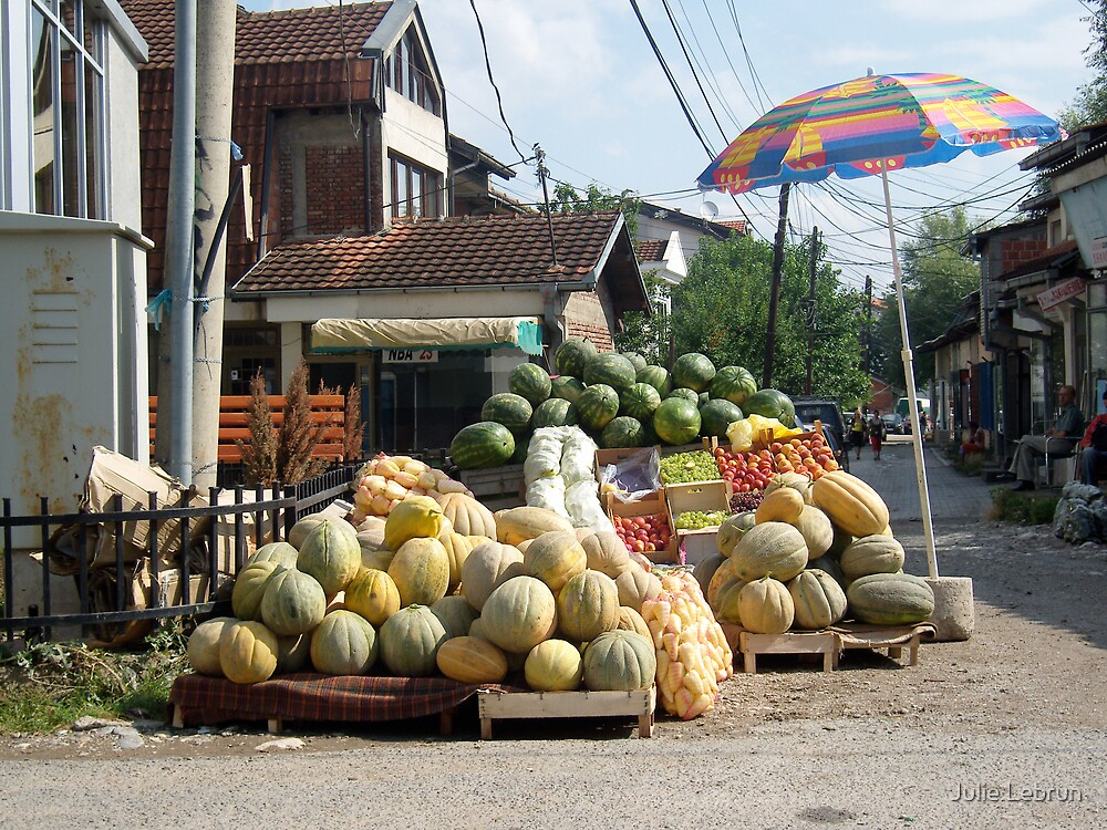 Fruit and vegetables stand by Julie Lebrun