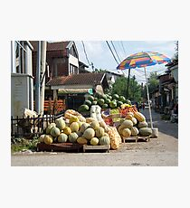 Fruit and vegetables stand Photographic Print