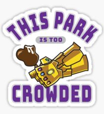 Too Crowded Sticker