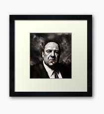 The Sopranos - Tony Soprano  Framed Print