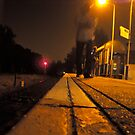 rail at night by Julie Lebrun