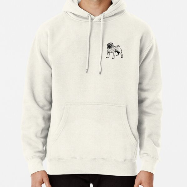 Mighty Pug Pullover Hoodie