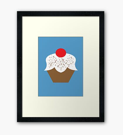 Chocolate Sprinkles Cupcake Framed Print