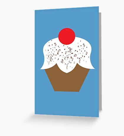 Chocolate Sprinkles Cupcake Greeting Card