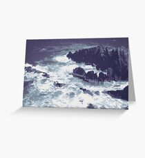 Ocean with Rocks and Waves Greeting Card