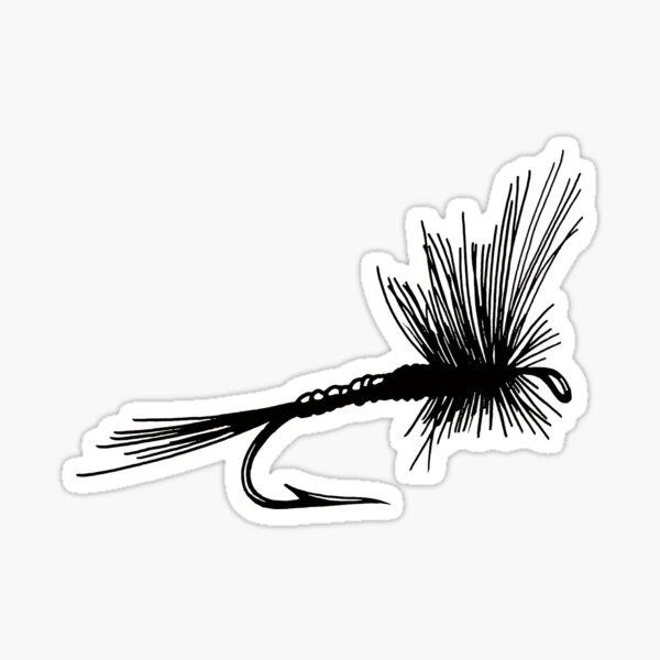 Flyfishing fly  Sticker