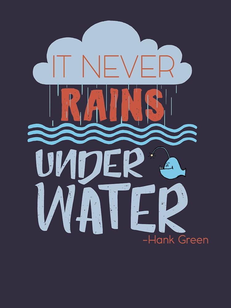 It never rains under water - Hank Quote by goldenyakstudio