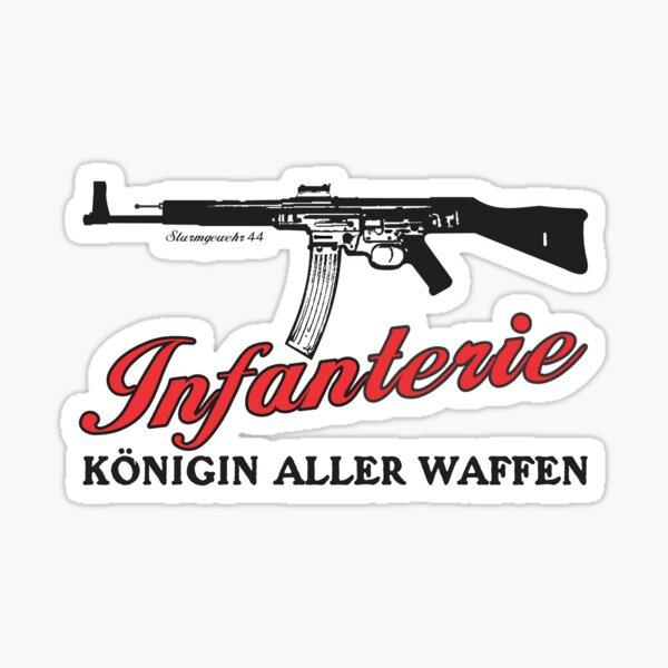 STG (Sturmgewehr) 44 - Infanterie Konigin Aller Waffen Pegatina