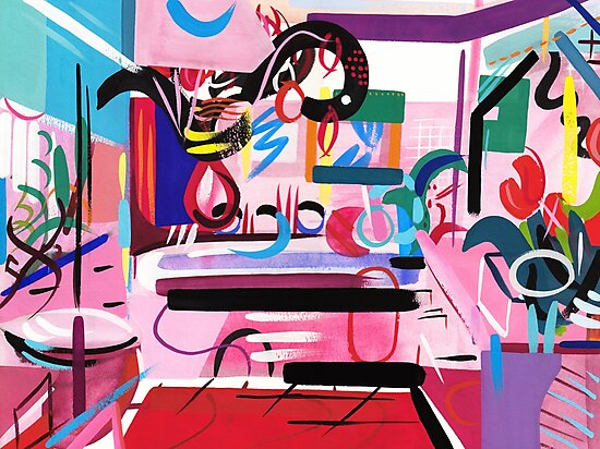 Pink Interior II by Lisa V Robinson