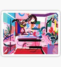 Pink Interior II Sticker