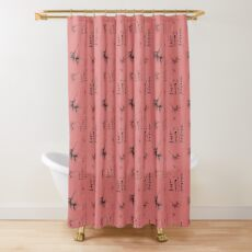 Blush Botanical Shower Curtain