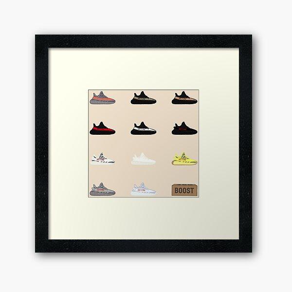 Yeezy Display Framed Art Print