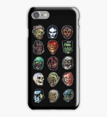 Horror Movie Monster Masks (color) iPhone Case/Skin