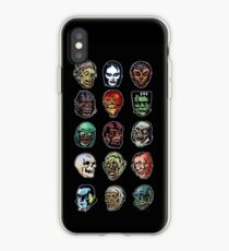 Horror Movie Monster Masks (color) iPhone Case